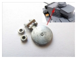 1/16 Panzer III turret metal signal port hatch